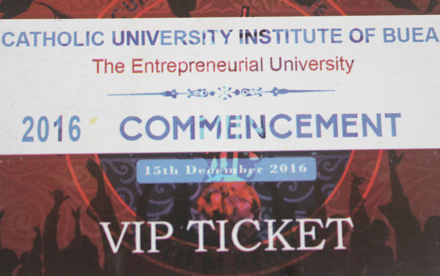 2016 Commencement: The Tickets