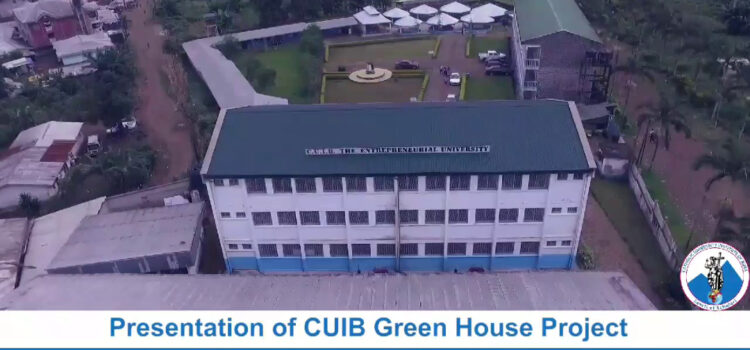 Presentation of CUIB Green House Project at Buea main Campus