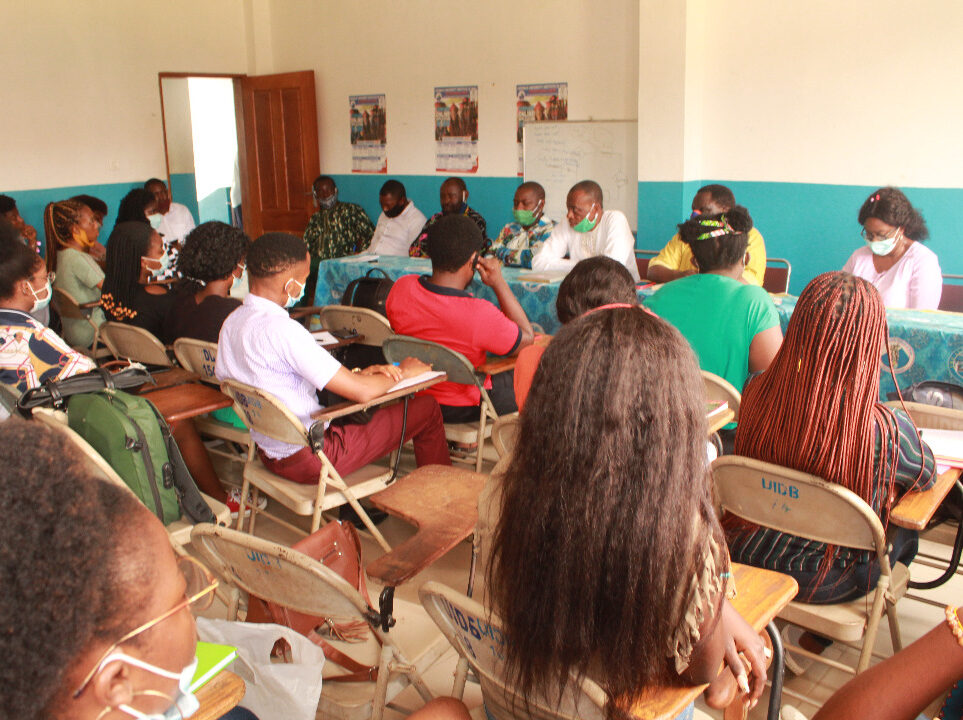 Professor Ngoh, took time to explain their mission to the Douala campus